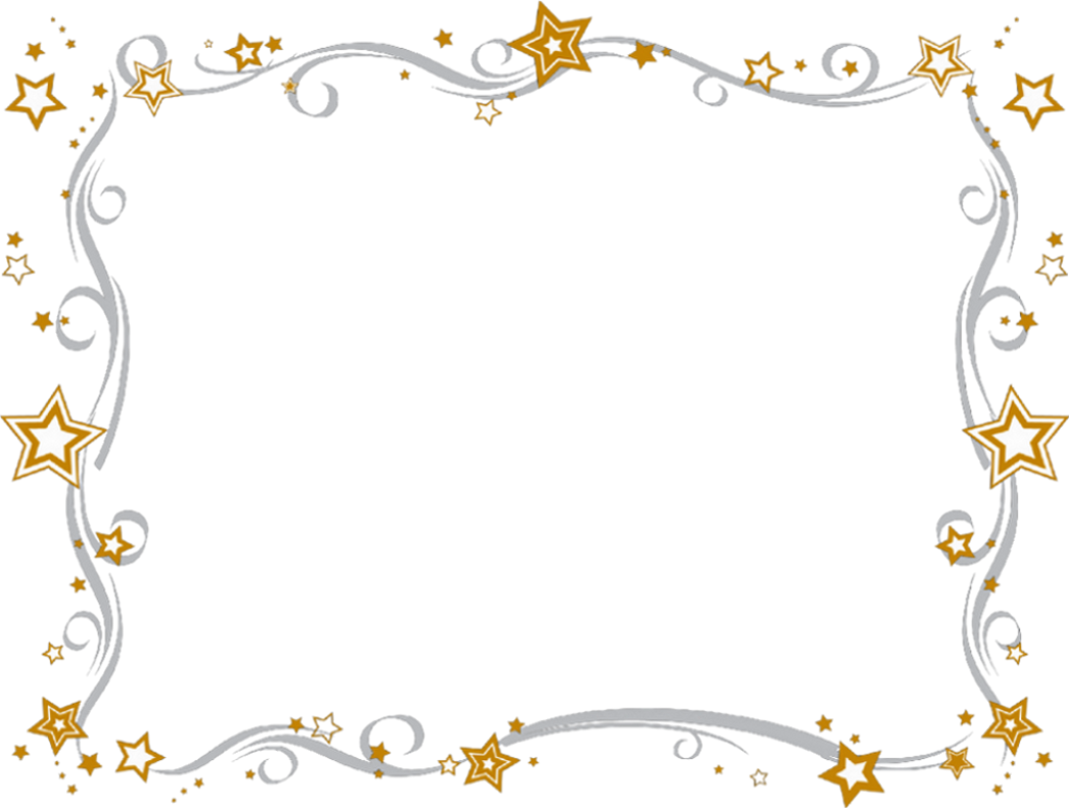 Star clip art border. Flowery free images at