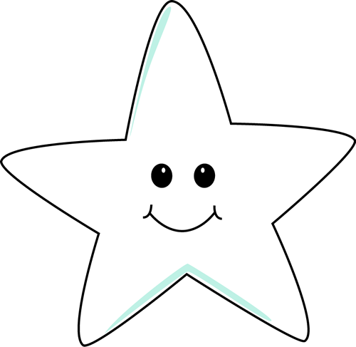 Star clip art cute. Smiling image white in