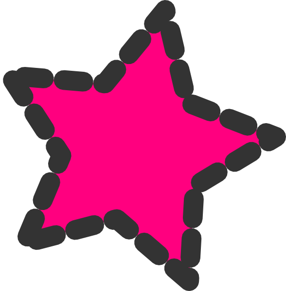 Star clip art cute. Pink dotted at clker
