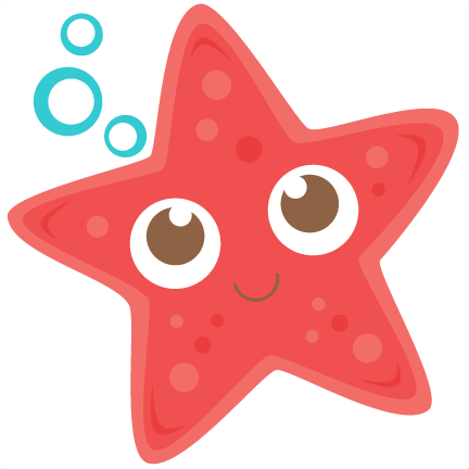 Starfish svg scrapbook cut. Star clip art cute