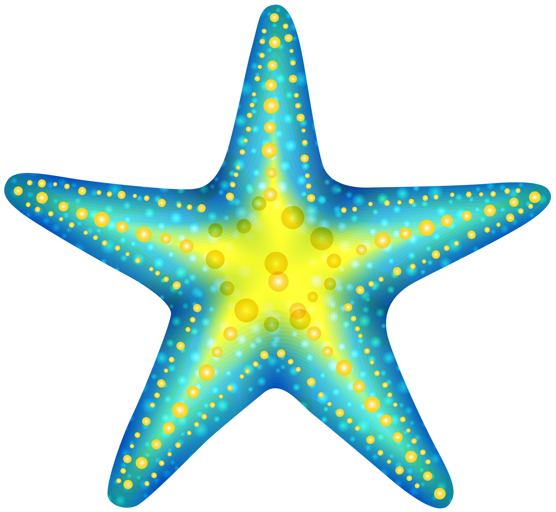 Blue png clip art. Starfish clipart