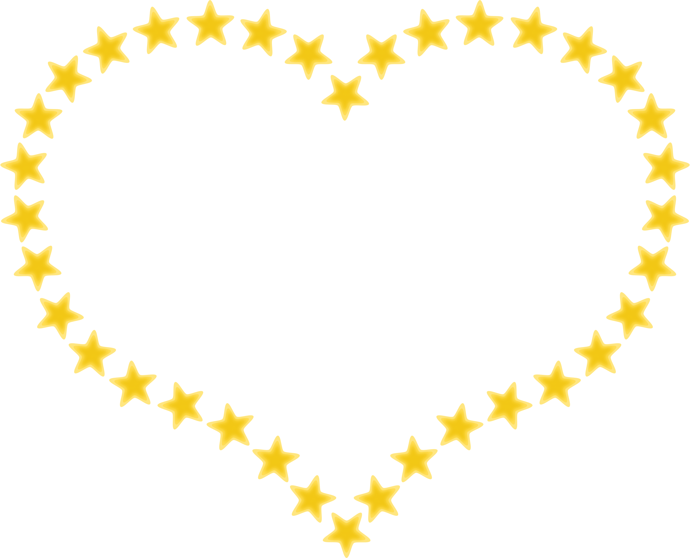 Star clip art heart. Clipart shaped border with