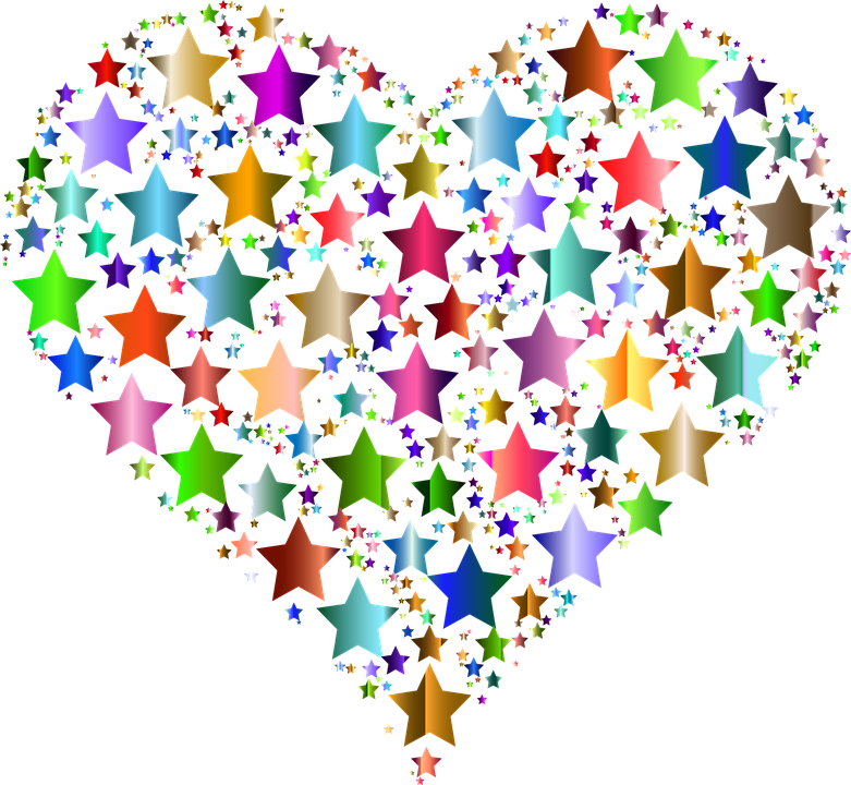Star clip art heart. Free image on pixabay