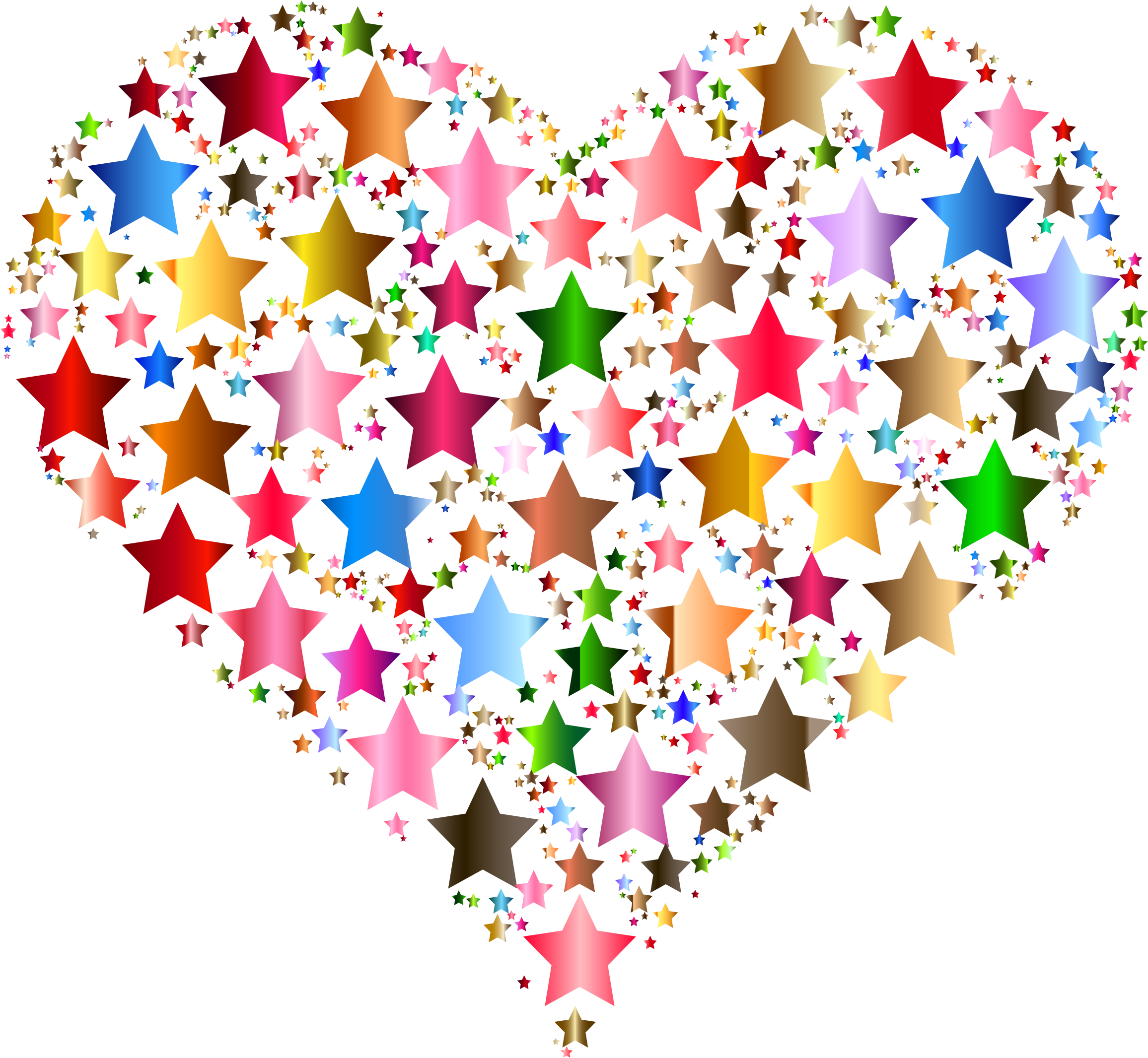 Colourful stars colorful clipart. Star clip art heart