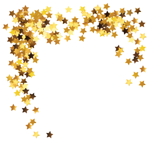 Clipart stars dust. Gold decoration png picture