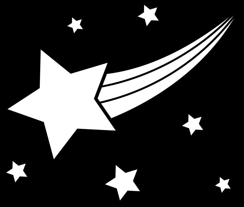 Star clip art shooting star. Image of clipart black