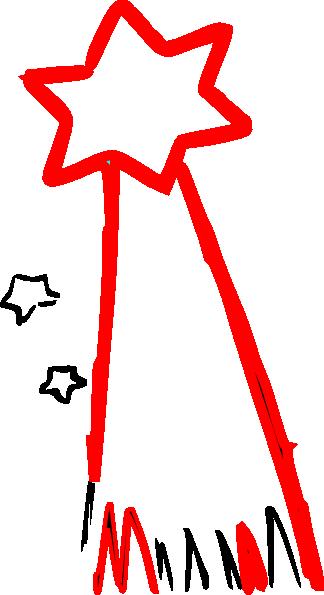 Star clip art shooting star. At clker com vector
