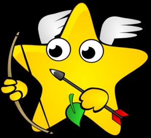 At clker com vector. Star clip art shooting star