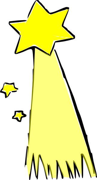 Star clip art shooting star. Colored at clker com