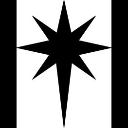 Silhouettes bethlehem. Star clip art silhouette