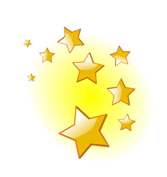 Handprint clipart childcare. Stars clip art at