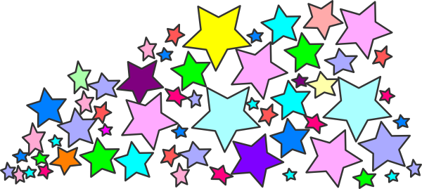 Colorful clipart . Star clip art star cluster
