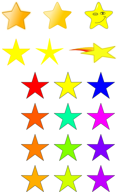 Stars primitives free clipart. Star clip art star pattern