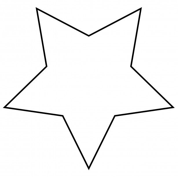 Also fatter star clip. Clipart stars template