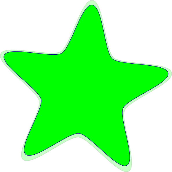 Star shape clip art. Markers clipart green