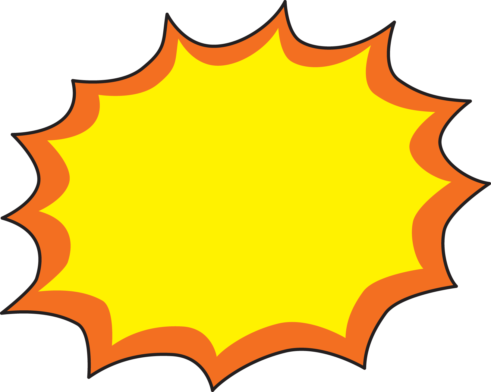 Waves clipart tide. Explosion star shape explosions