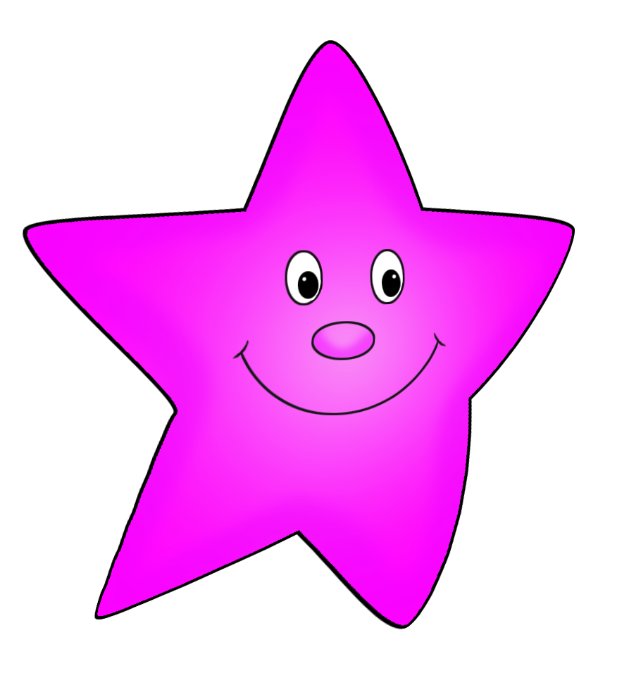 Clipart pink flying drawing. Star clip art star shape