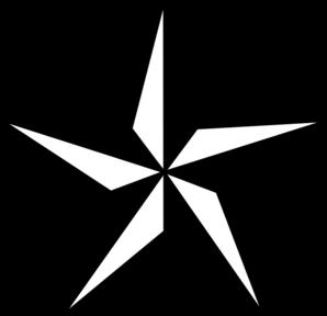 Star clip art star shape. White vector clipart panda