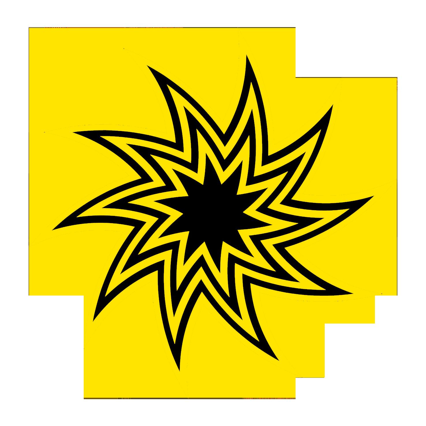 Clipart stars swirl. Star black and yellow