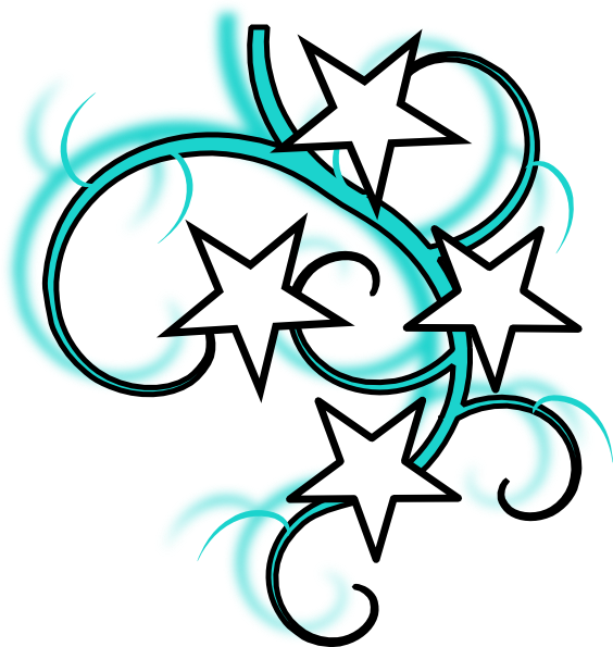 Star clip art swirl. Tattoo at clker com
