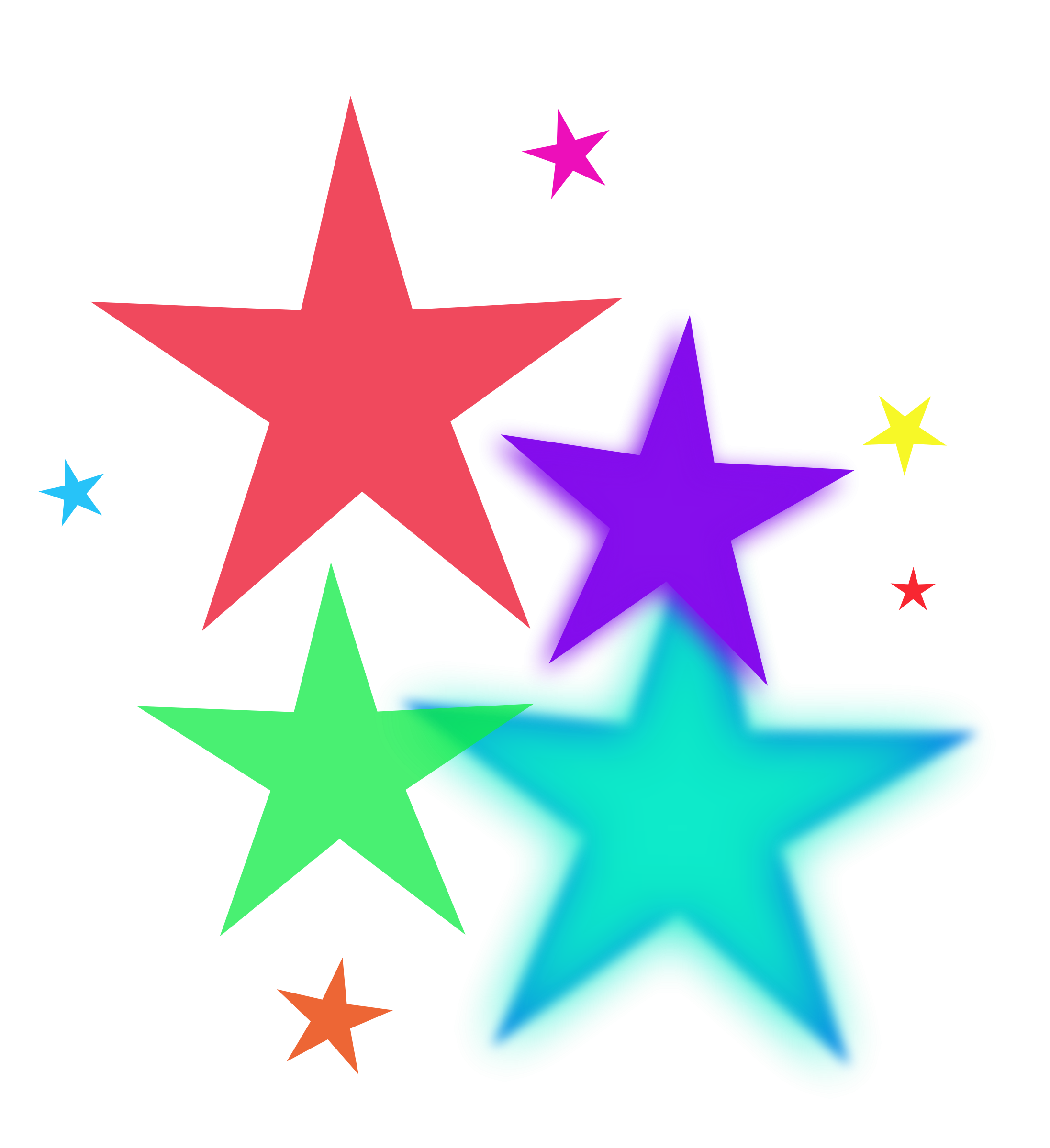Star clip art swirl. Colorful stars and swirls
