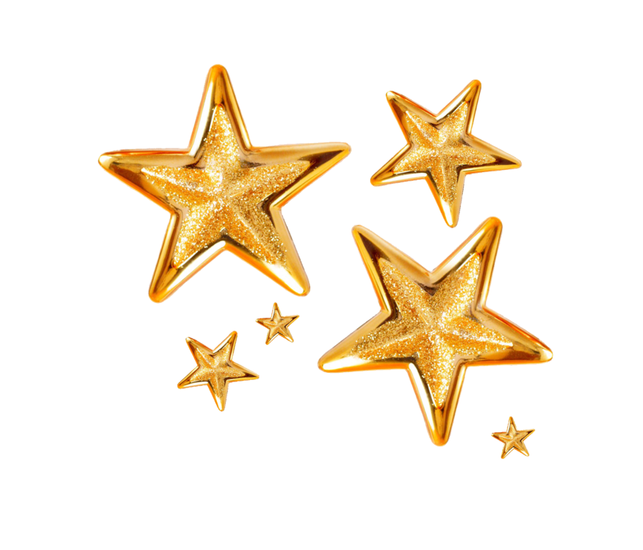 Star clip art transparent background. Christmas gold png image