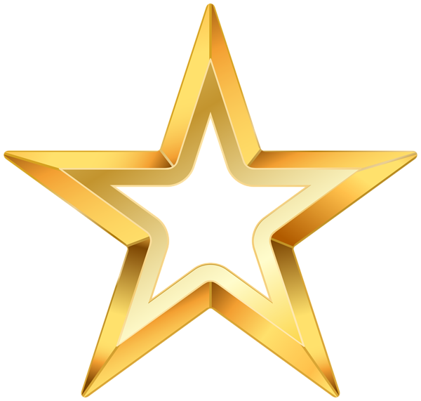Gold star png clip. Clipart stars transparent background