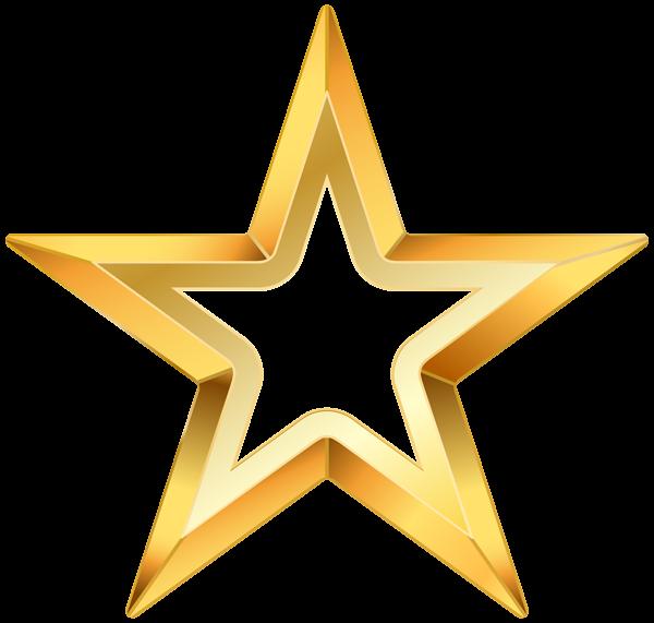 Star clip art transparent background. Gold png image pinterest