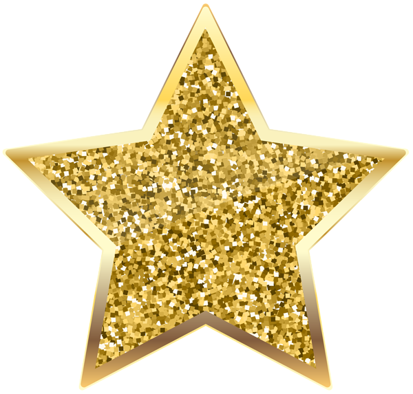 Clipart stars glitter. Golden deco star transparent