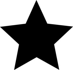 Star clip art vector. Black clipart panda free