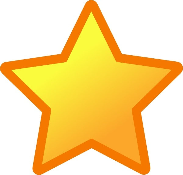 Star clip art vector. Icon free in open