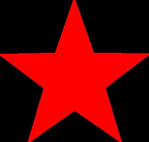 Star clip art vector. Red at clker com