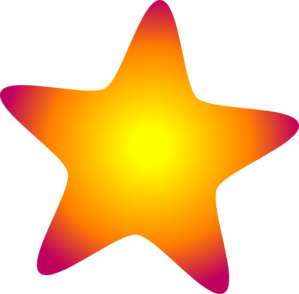Star clip art vector. Glowing clipart panda free