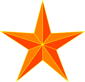 Orange at clker com. Star clip art vector