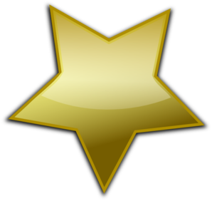 Star clip art vector. Gold clipart panda free