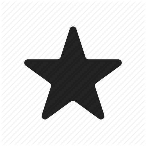 Minimalist contact by yellowline. Star vector png
