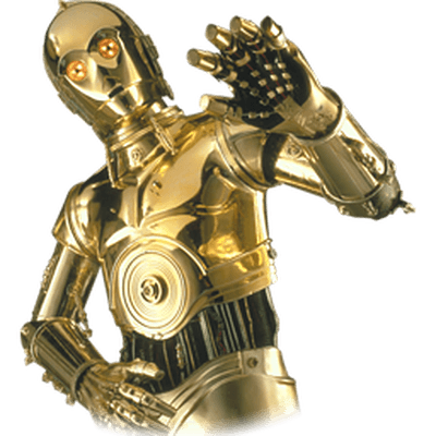Transparent stickpng cpo. Star wars png images