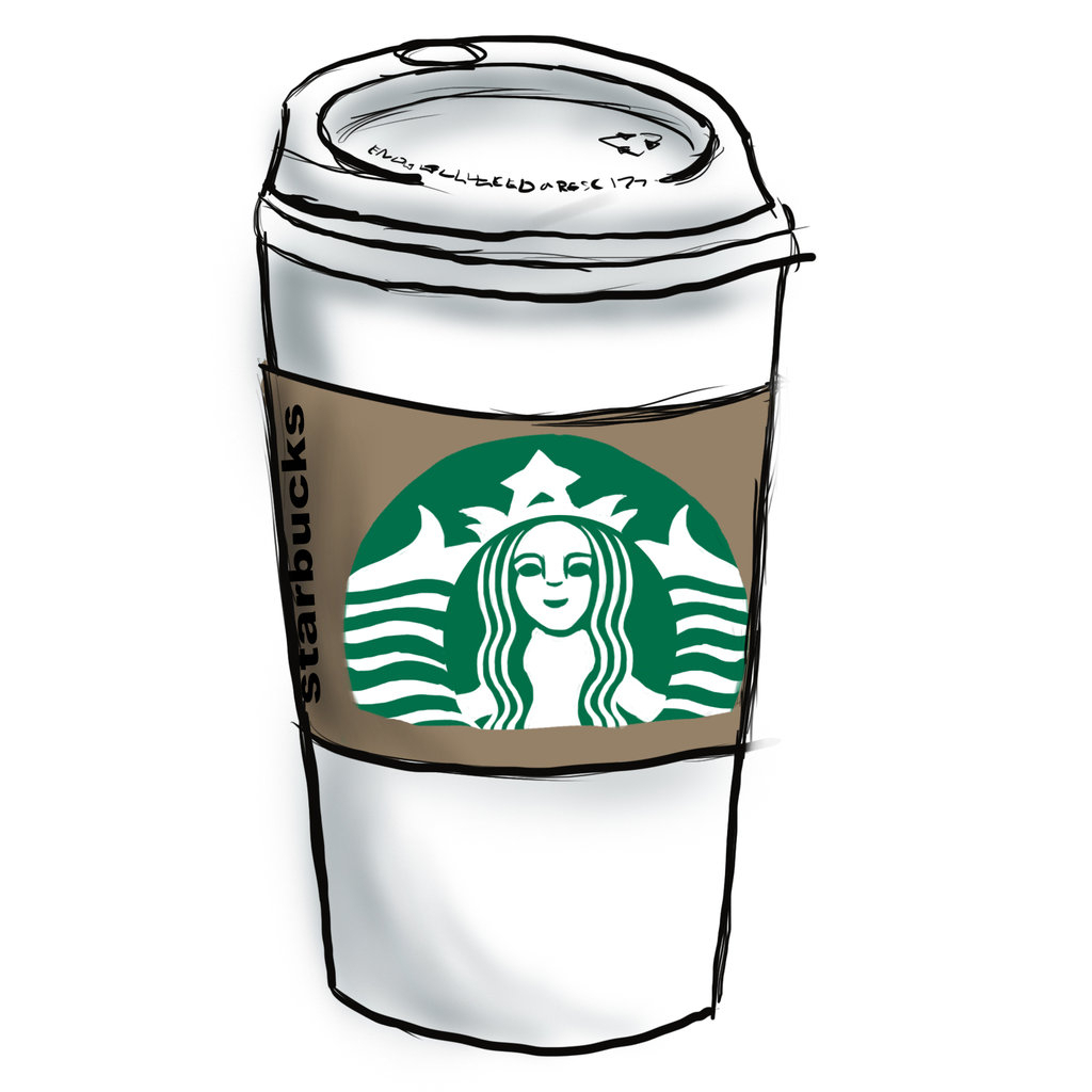 Starbucks clipart. Cup drawing cartoon kid