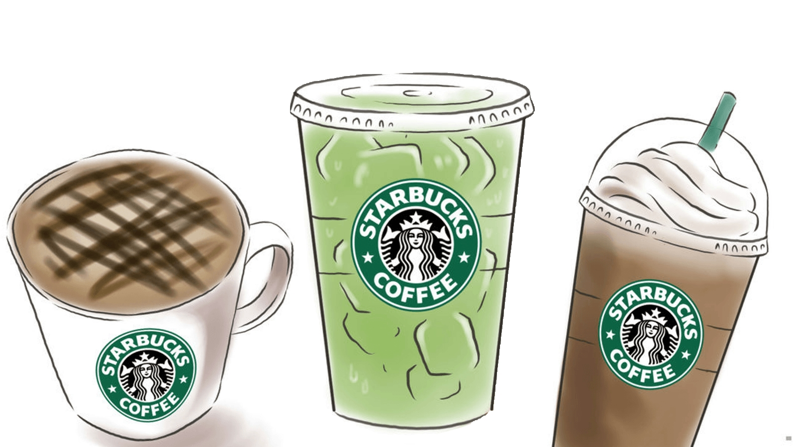 Starbucks clipart. Awesome design digital collection