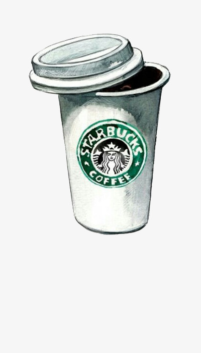 Starbucks clipart. Cartoon cup illustration painting
