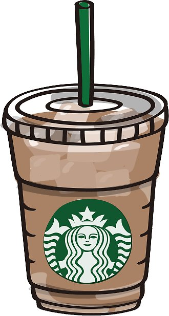 collection of cup. Starbucks clipart