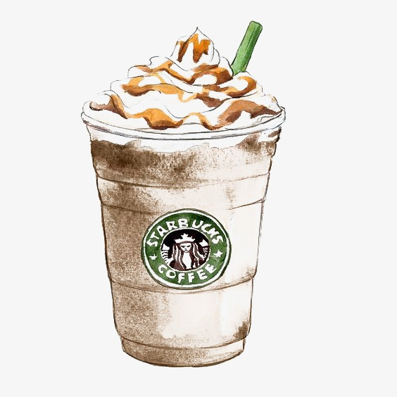 Coffee creative leisure life. Starbucks clipart