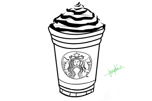 Starbucks Clipart Coloring Picture