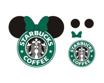 Minnie svg starbukcs design. Starbucks clipart ear