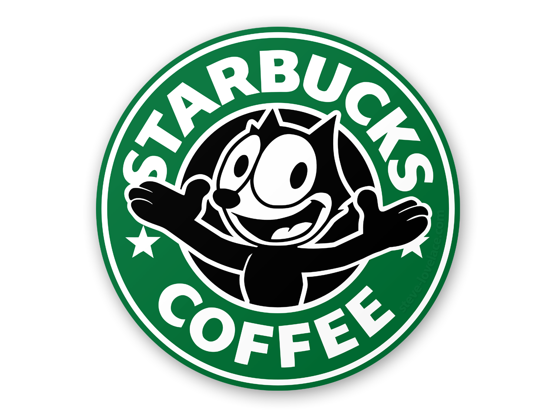 Starbucks clipart ear. Logo with felix the