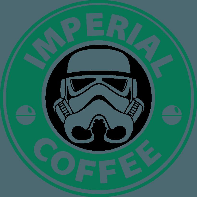 Death before decaf coffee. Starbucks clipart ear
