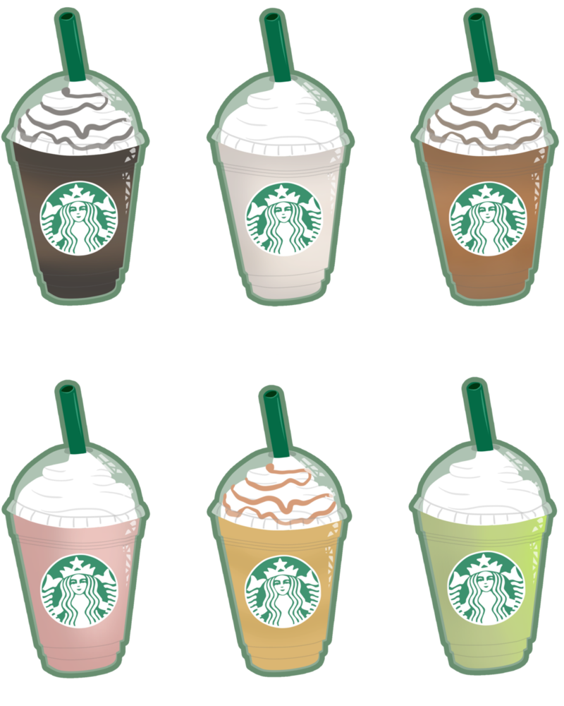 Starbucks clipart frappuccino clipart. The smallest by tigerparadise