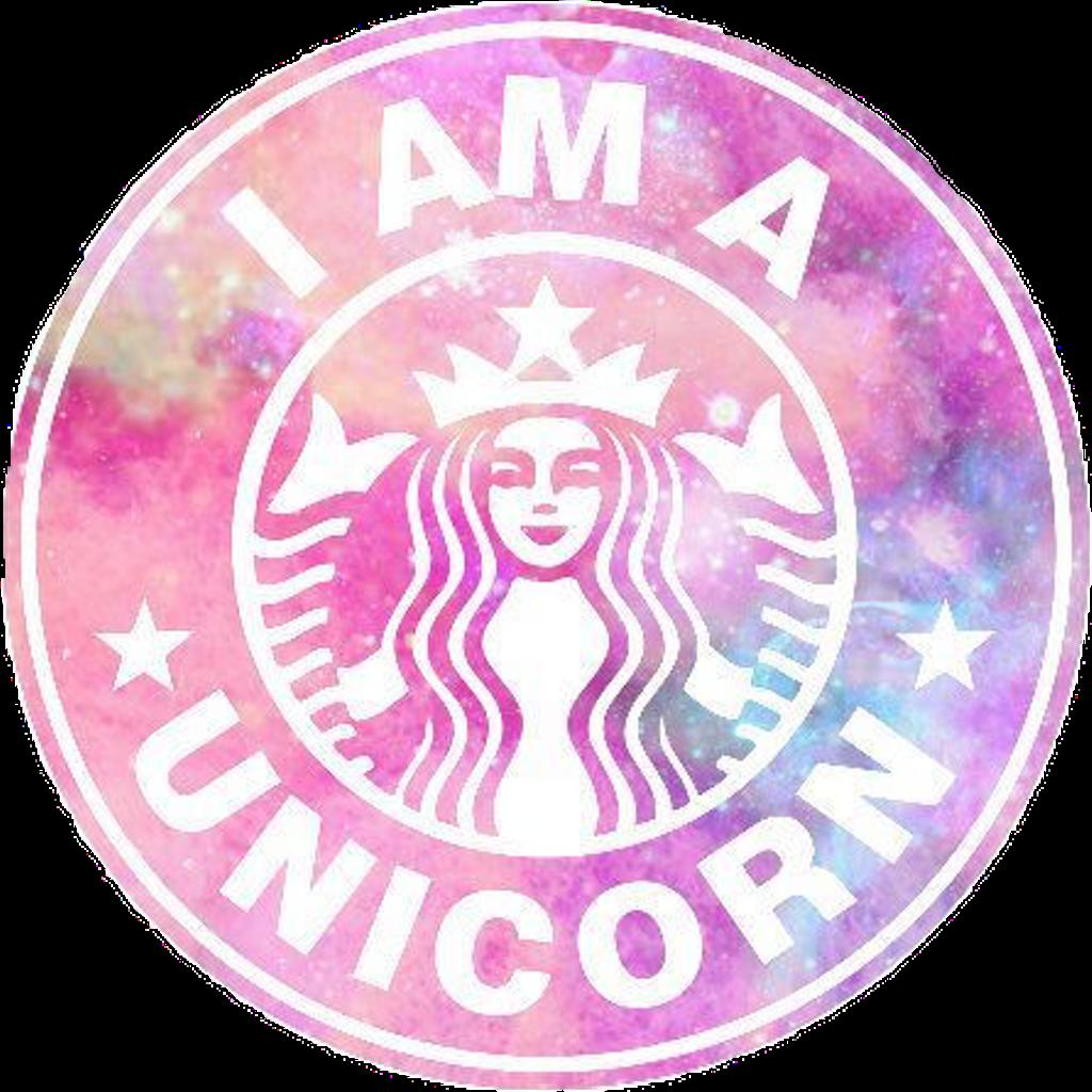 Starbucks clipart logo starbucks. Unicorn starbuckslogo pink galaxy