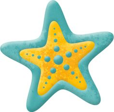 Starfish clipart. Colorful seashell png ocean