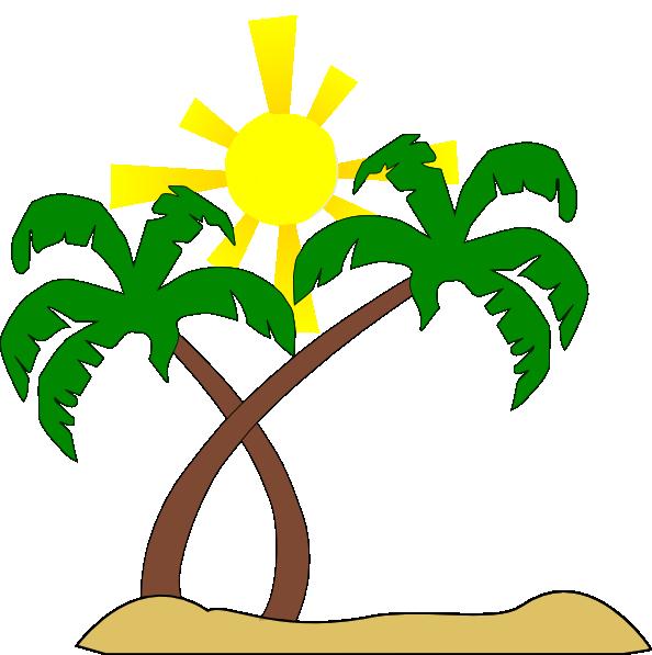 Palm tree pohon kelapa. Starfish clipart gambar